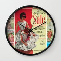 1963 - 98th Anniversary Sale -  Summer Catalog Cover Wall Clock