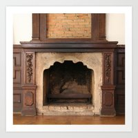 Old Fireplace Art Print