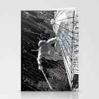 Black And White Ninja Tu… Stationery Cards