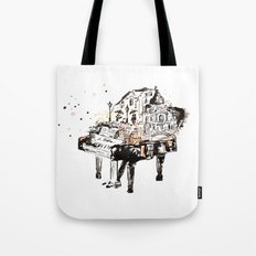 Piano, vintage watercolor piano Tote Bag