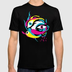 See 'em, Yikesss SMALL Mens Fitted Tee Black