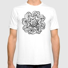 Zendala ornate Mens Fitted Tee SMALL White
