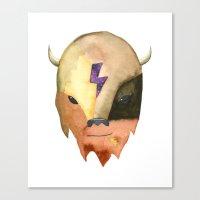 Cosmic Buffalo Canvas Print