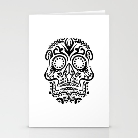 Day of the Dead Skull No.25 Stationery Card