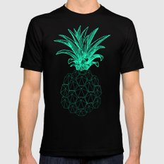 pineapple got the blues Mens Fitted Tee Black SMALL