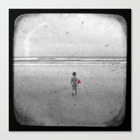 Little Red Sailboat - Through The Viewfinder (TTV) Canvas Print