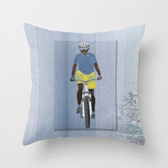 Bicycle girl 1 Throw Pillow