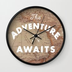 Adventure Awaits Wall Clock