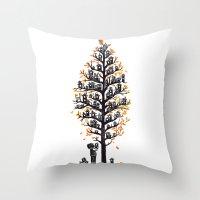 Hoot Lodge Throw Pillow