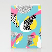 Modern living with lagoon view Stationery Cards