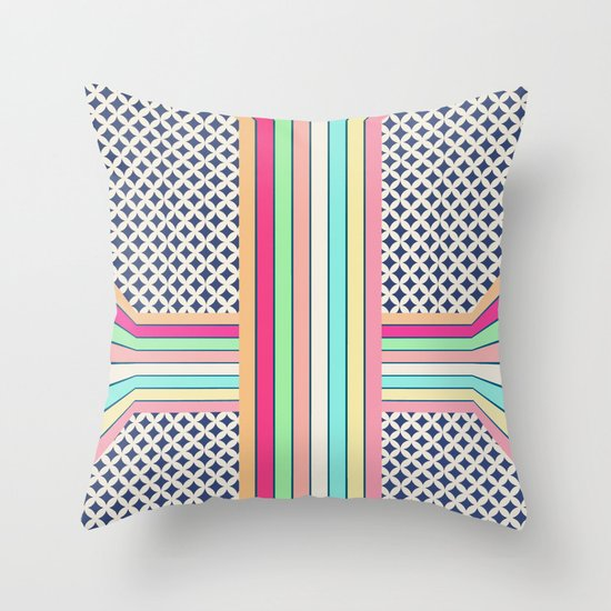 pop cross Throw Pillow