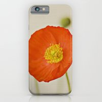 iPhone & iPod Case featuring Poppy Flower Red Orange Yellow Bloom by Kimberly Blok