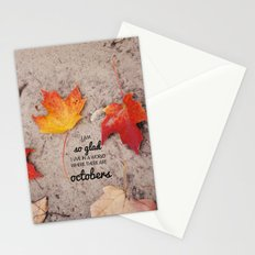 octobers. Stationery Cards