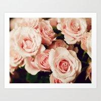 Pink Rose Bouquet #2 Art Print