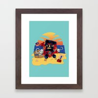 Lucky the Pirate Framed Art Print