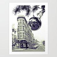 Downtown decoration Art Print