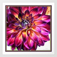 Flaming Mum Art Print