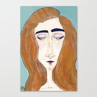 Canvas Print featuring Red Hair by Suzie