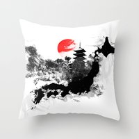 Abstract Kyoto - Japan Throw Pillow