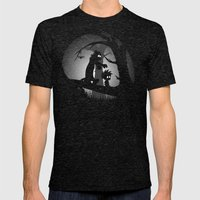 A Wrong Turn Mens Fitted Tee Tri-Black SMALL