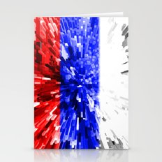 Russia Flag - Extrude Stationery Cards