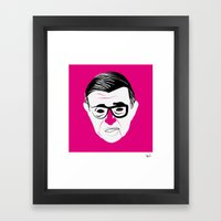 Jean Paul Sartre Framed Art Print