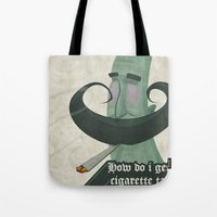 Tar mustache Tote Bag