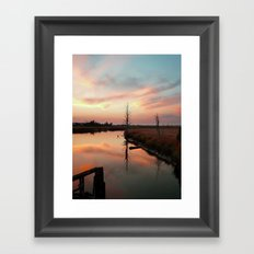 Sunset on Smith Creek Wilmington, NC Framed Art Print