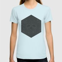 Dead Space Womens Fitted Tee Light Blue SMALL
