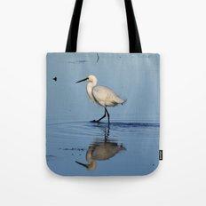 Egret walk Tote Bag
