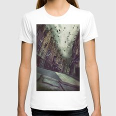 Architecture In Ghent, B… Womens Fitted Tee White SMALL