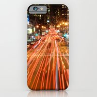 iPhone & iPod Case featuring City Traffic In The Night by Chris Klemens