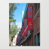 Red Sox - 2013 World Series Champions!  Fenway Park Canvas Print