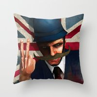 The bollocks Throw Pillow