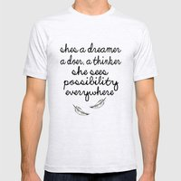 She's A Dreamer Mens Fitted Tee Ash Grey SMALL