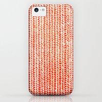 iPhone Cases featuring Stockinette Orange by Elisa Sandoval