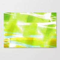 In Between Yellow, Green and Blue - JUSTART © Canvas Print