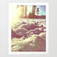 Ski Lodge Days Art Print
