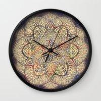 Gold Morocco Lace Mandala Wall Clock