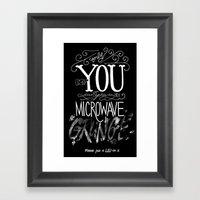 Microwave Grunge V 2.0 Framed Art Print