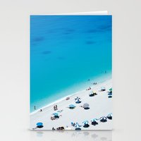 The beach. Blue sea mediterranean Greek beach. Summer seascape photography Stationery Cards