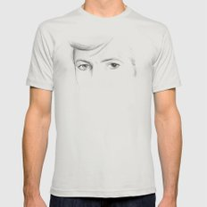 Bowie Mens Fitted Tee Silver SMALL