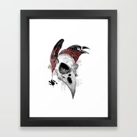 DARK WRITER Framed Art Print
