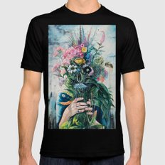 The Last Flowers Mens Fitted Tee Black SMALL