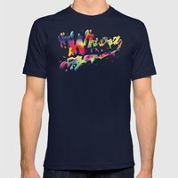 Whoah Mens Fitted Tee Navy SMALL