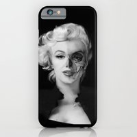 iPhone Cases featuring Dead Celebrities Series Half Skull by Kristy Patterson Design