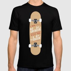 I be Skatin', You be Hatin' SMALL Mens Fitted Tee Black