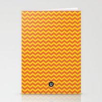 U14: sunset chevron Stationery Cards