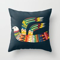 Native Bird Throw Pillow