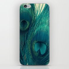 Teal Peacock Feathers iPhone & iPod Skin